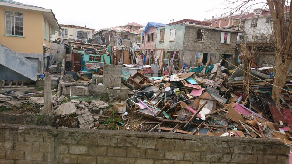 Homes Destroyed in Dominica
