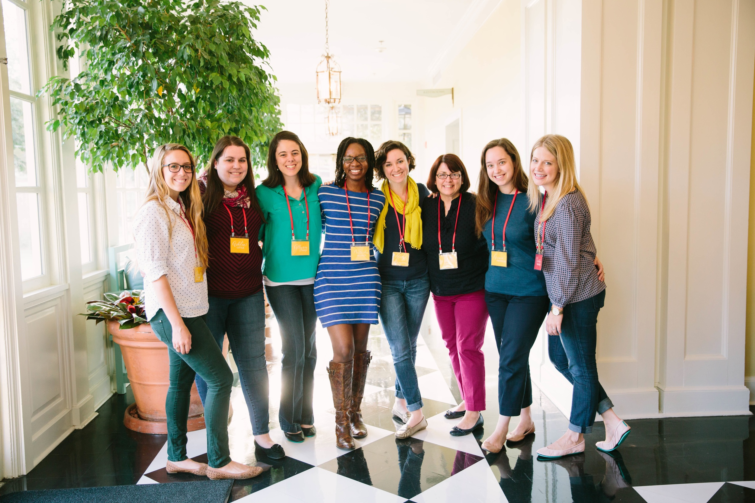 Photo of the Encouragement Crew at the October 2014 Making Things Happen conference in Chapel Hill by the fabulous  Emily March Photography .