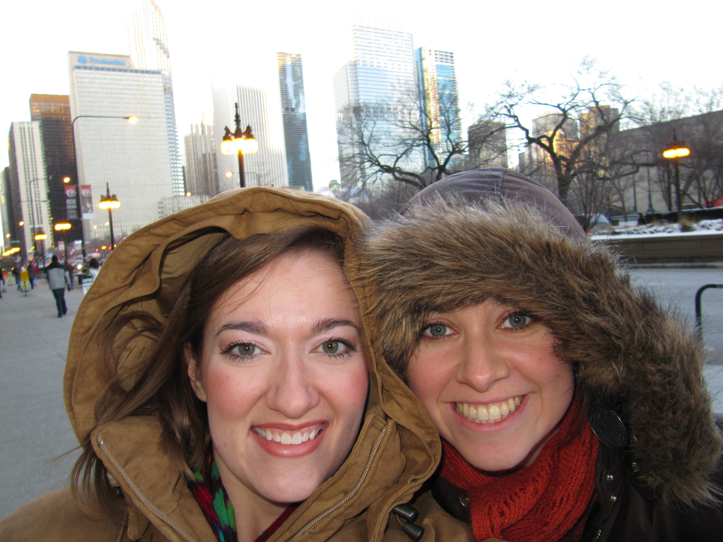 Almost 25 years of friendship under our belts. Or under our puffy coats?