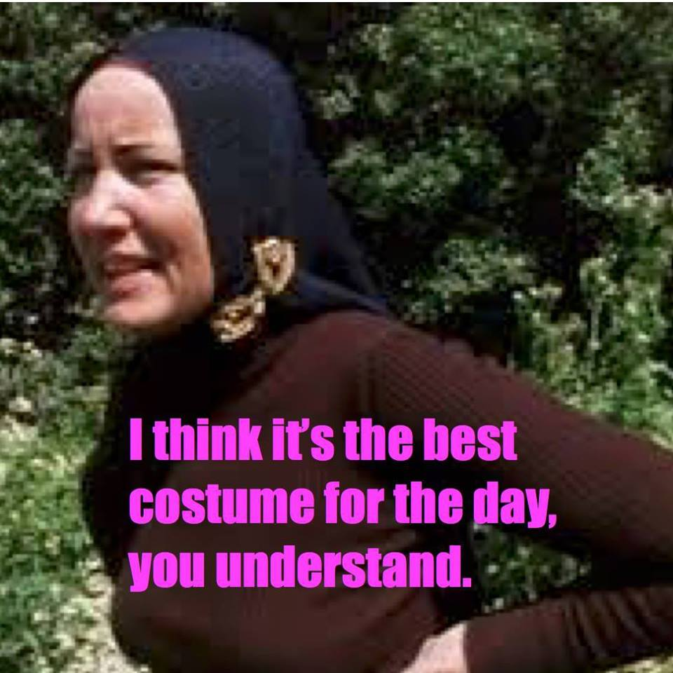 Little Edie from Grey Gardens . . . and me.