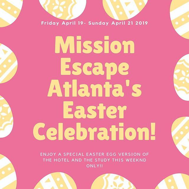 Join us this Friday, Saturday and Sunday for some Easter fun! #easter #escaperoom #atl #thingstodoinatlanta #atlanta #fun