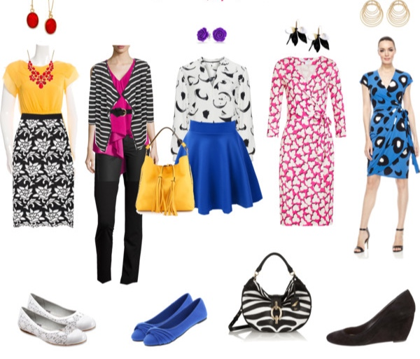 Outfits for the Bright Winter Enchantress to wear to a business casual office.