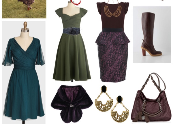 Miscellaneous outfits in Dark Autumn colors for the Bombshell Image Archetype.