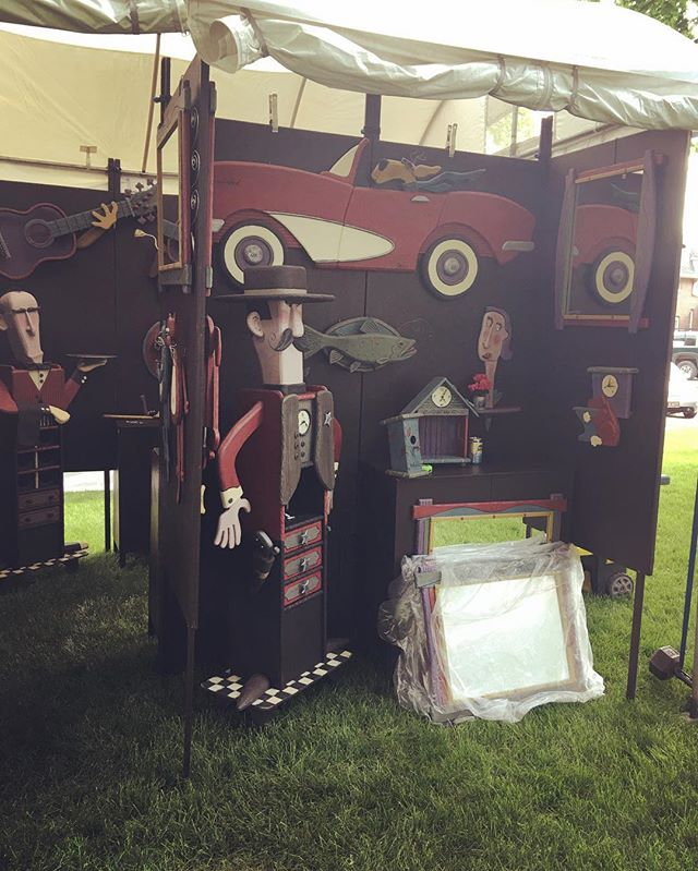 Almost set up for you Iowa! Looking forward to seeing you all at the #marionartsfestival Stop by and say hi!