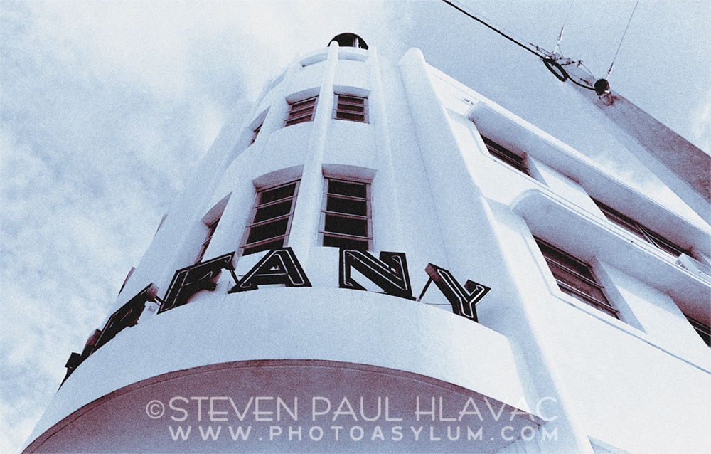 South Beach Tropical Art Deco - The Tiffany Hotel, Collins Avenue