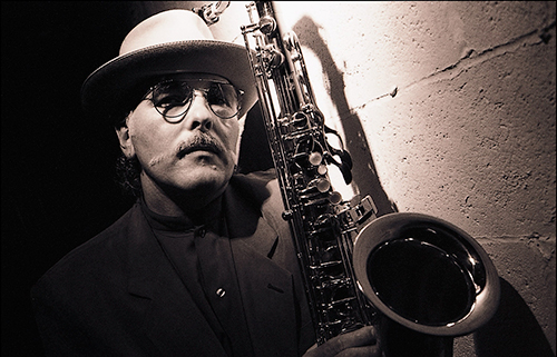 Jazz musician Arthur Barron publicity photo.