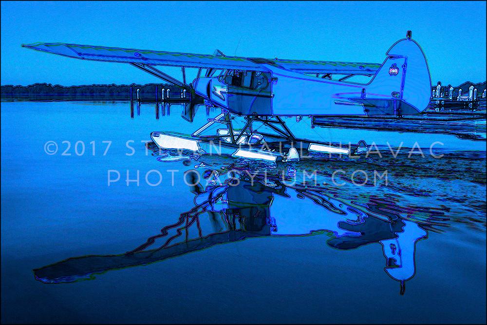 Florida Seaplane No. 17 Piper Light Blue Tone Line