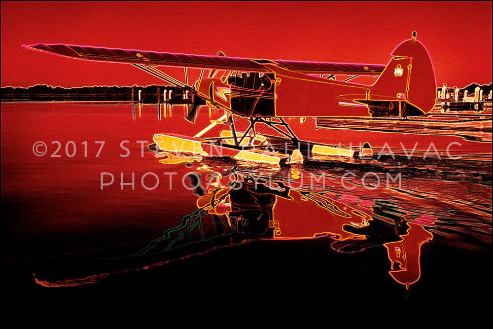 Florida Seaplane Piper No. 17 Red Tone Line
