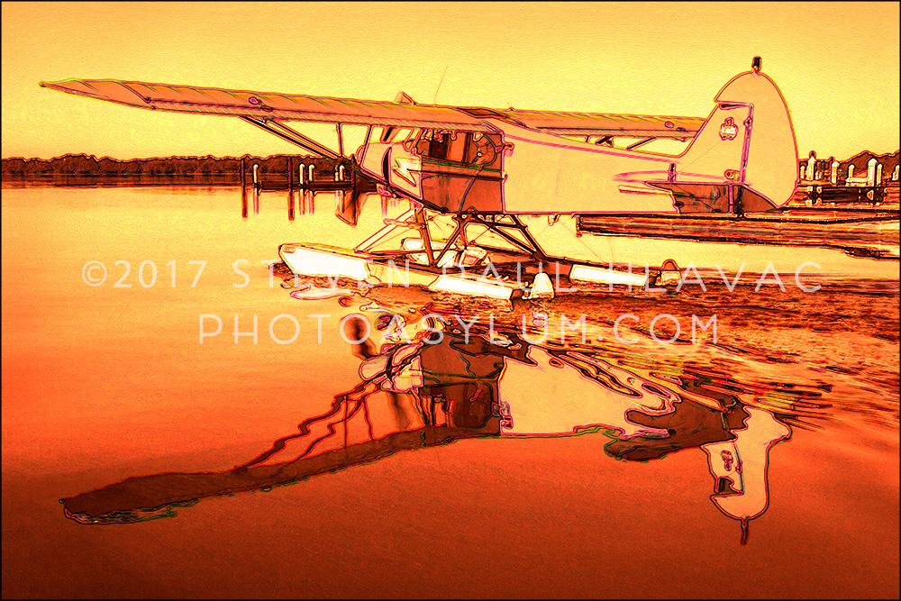 Florida Seaplane Piper No. 17 Orange Tone Line
