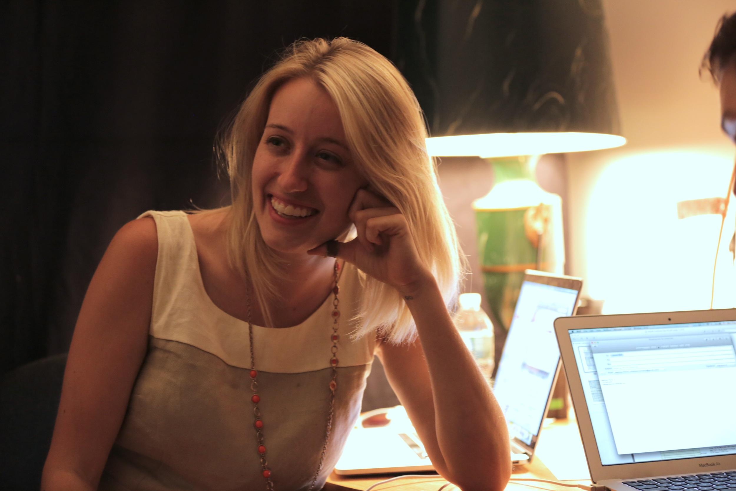 Lauren on set producing    SUGAR!    starring Tony Award Winner Alice Ripley (2014)