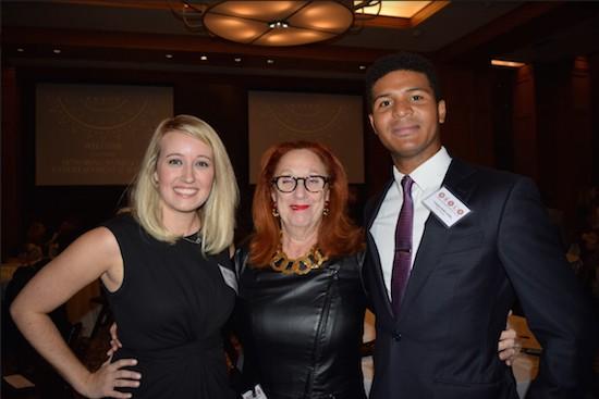 Brooklyn Entertainment & Sports Law Society (BESLS) co-president Lauren Rayner Davis, keynote speaker Marla Allard, and co-president Vaughn Bobb-Willis. Photo credit:Rob Abruzzese.