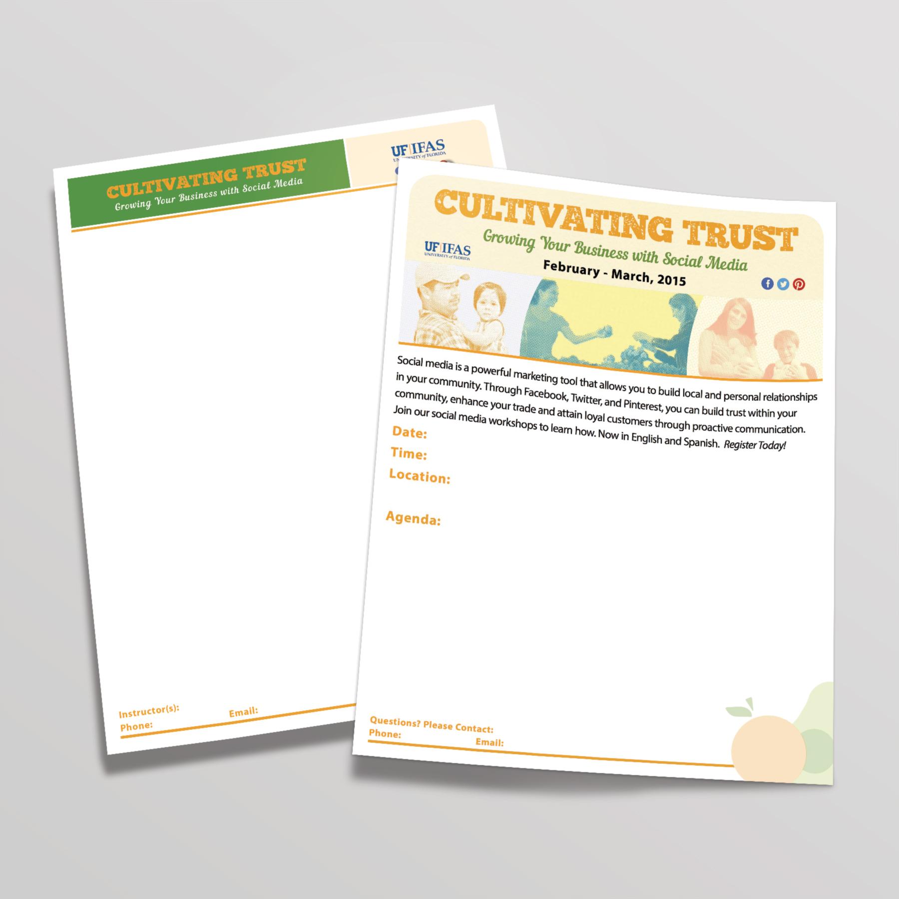 Letterhead and customizable flyer