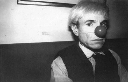 Andy Warhol seriously taking himself