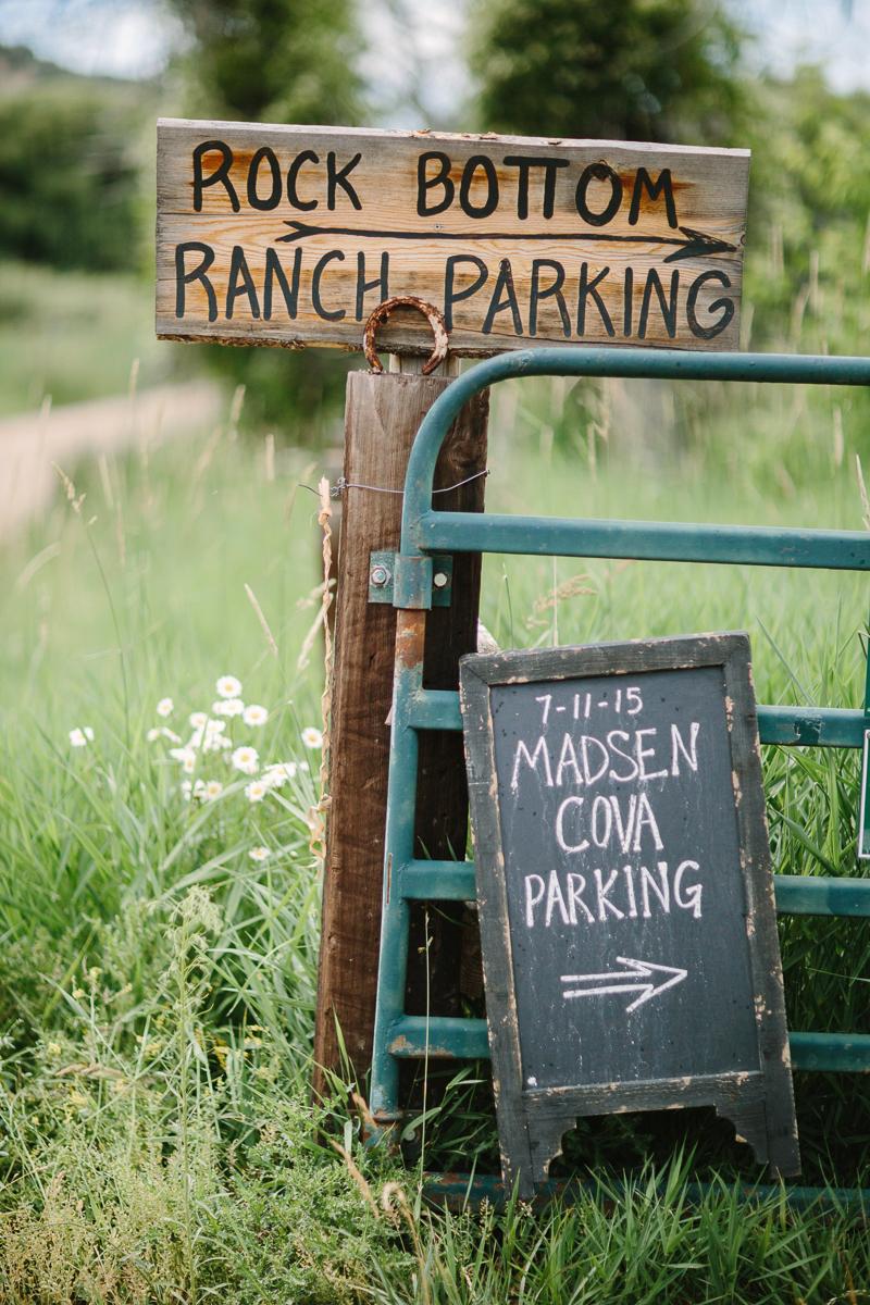Rock Bottom Ranch Wedding