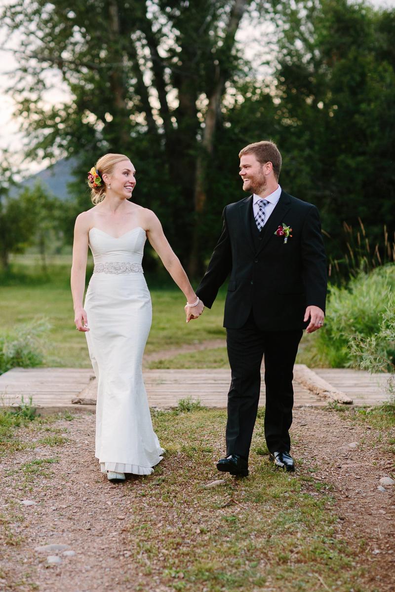 Aspen wedding bride and groom