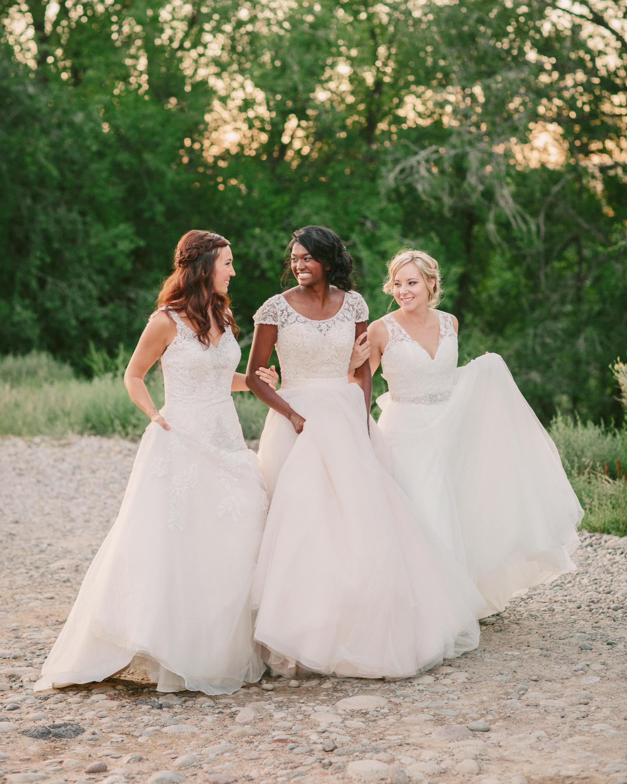 Wedding dresses by Annelise Bridal Boutique / Photo: Cat Mayer Studio