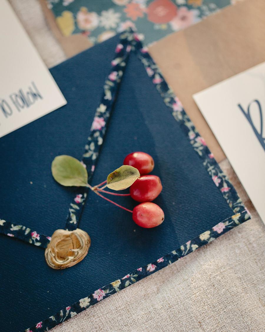 Grand Junction wedding invitation details / Photo by Cat Mayer Studio
