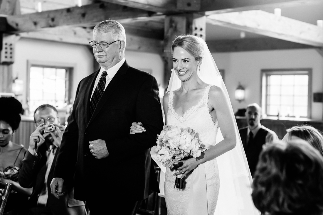 Bride and her father walking down aisle / Cat Mayer Studio