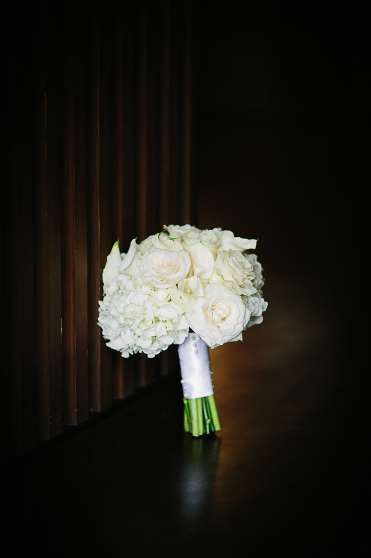 White bridal bouquet by The Aspen Branch