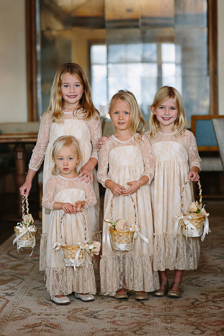 Flower girls at The Aspen Wedding Deck