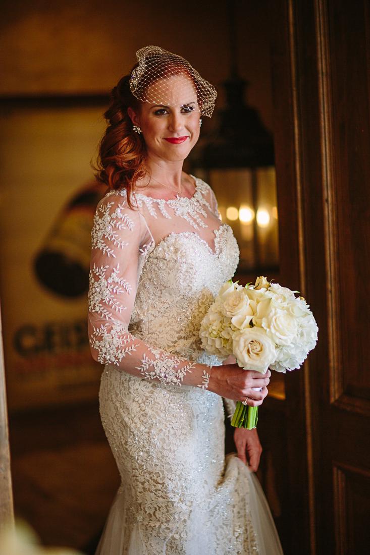 White bridal bouquet by The Aspen Branch