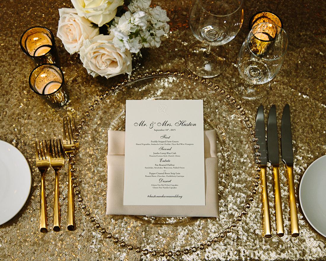 Gold wedding design by Bella Event Design & Planning | The Little Nell, Aspen