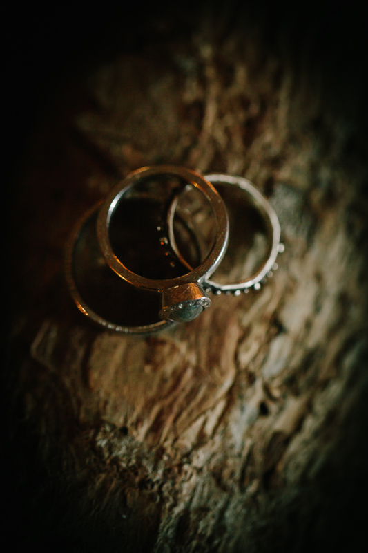 Wedding rings on wood | Alta Lakes Observatory | Cat Mayer Studio