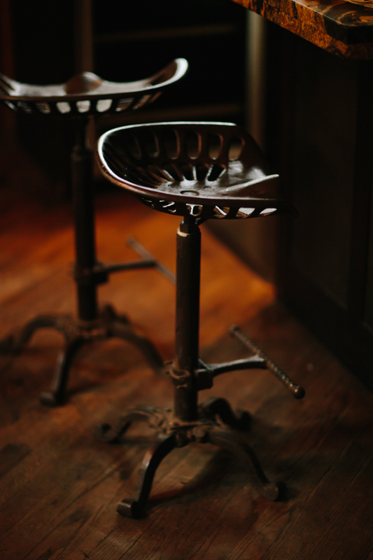 Iron barstools | Alta Lakes Observatory | Cat Mayer Studio