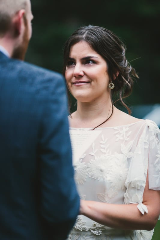 Bride crying at ceremony | Telluride wedding photographer Cat Mayer Studio