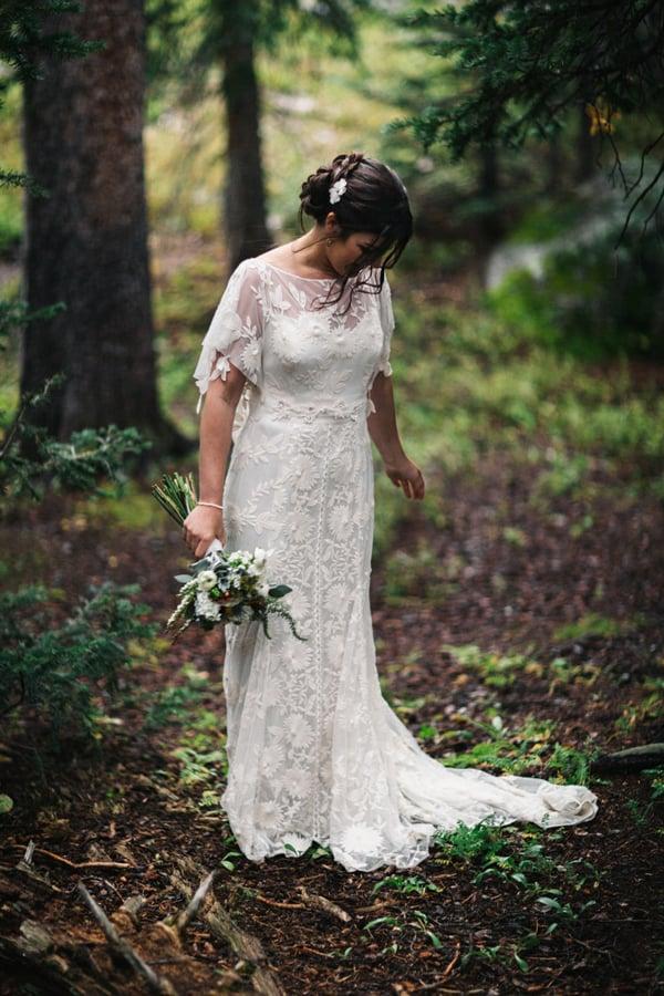 Bride at Telluride wedding / Cat Mayer Studio