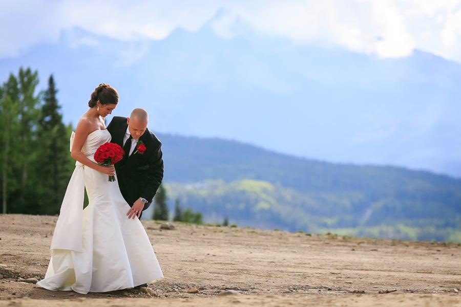 Bride and groom at San Sophia | Telluride wedding photographer | Cat Mayer Studio