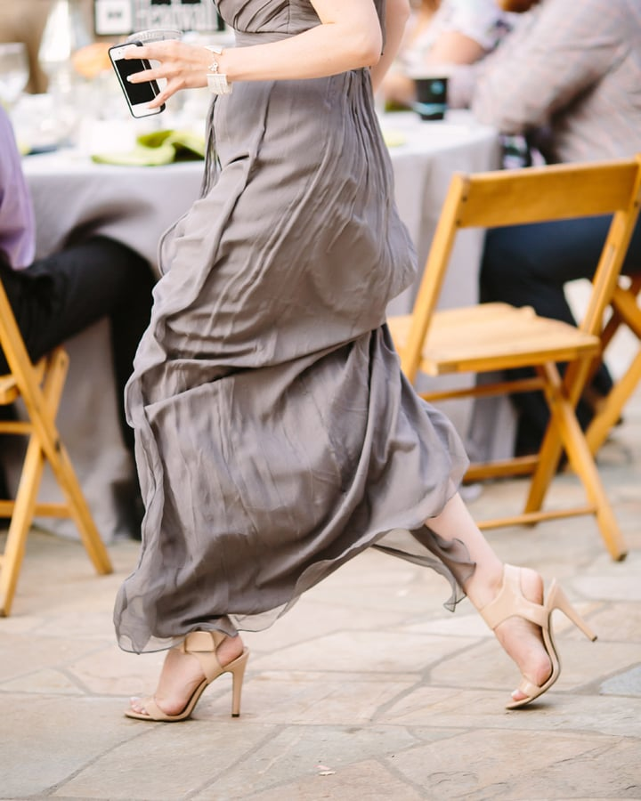 Bridesmaid in Amsale dress | Telluride wedding | www.catmayerstudio.com