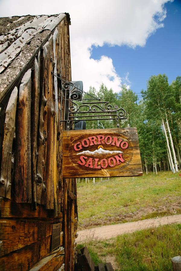 Gorrono Ranch sign | Telluride wedding photographer | Cat Mayer Studio