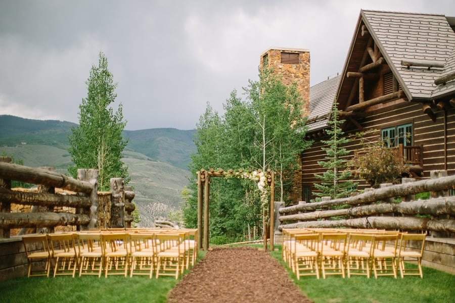 Wedding ceremony setup | Ritz Carlton Bachelor Gulch | Vail wedding photographer Cat Mayer Studio | www.catmayerstudio.com
