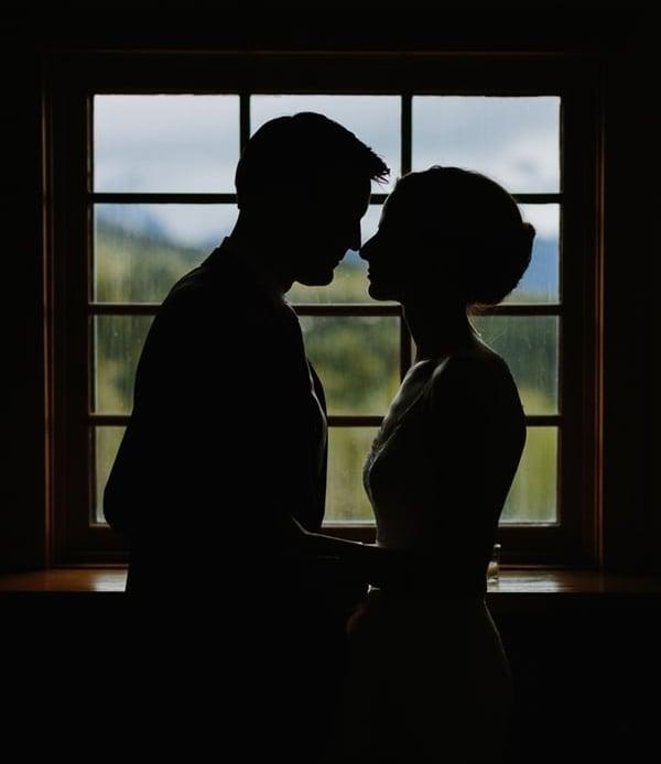 Bride and groom at Gorrono Ranch wedding / Telluride, Colorado / Cat Mayer Studio