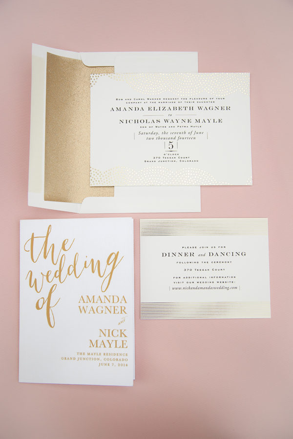 Wedding invitations | Wedding Paper Divas | Grand Junction wedding photography | www.catmayerstudio.com