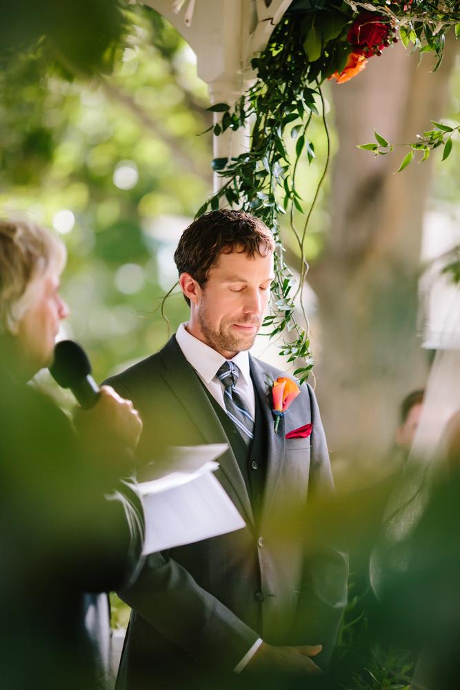 Cat Mayer Studio | www.catmayerstudio.com | Grand Junction Wedding Photography | Groom at Amy's Courtyard Wedding