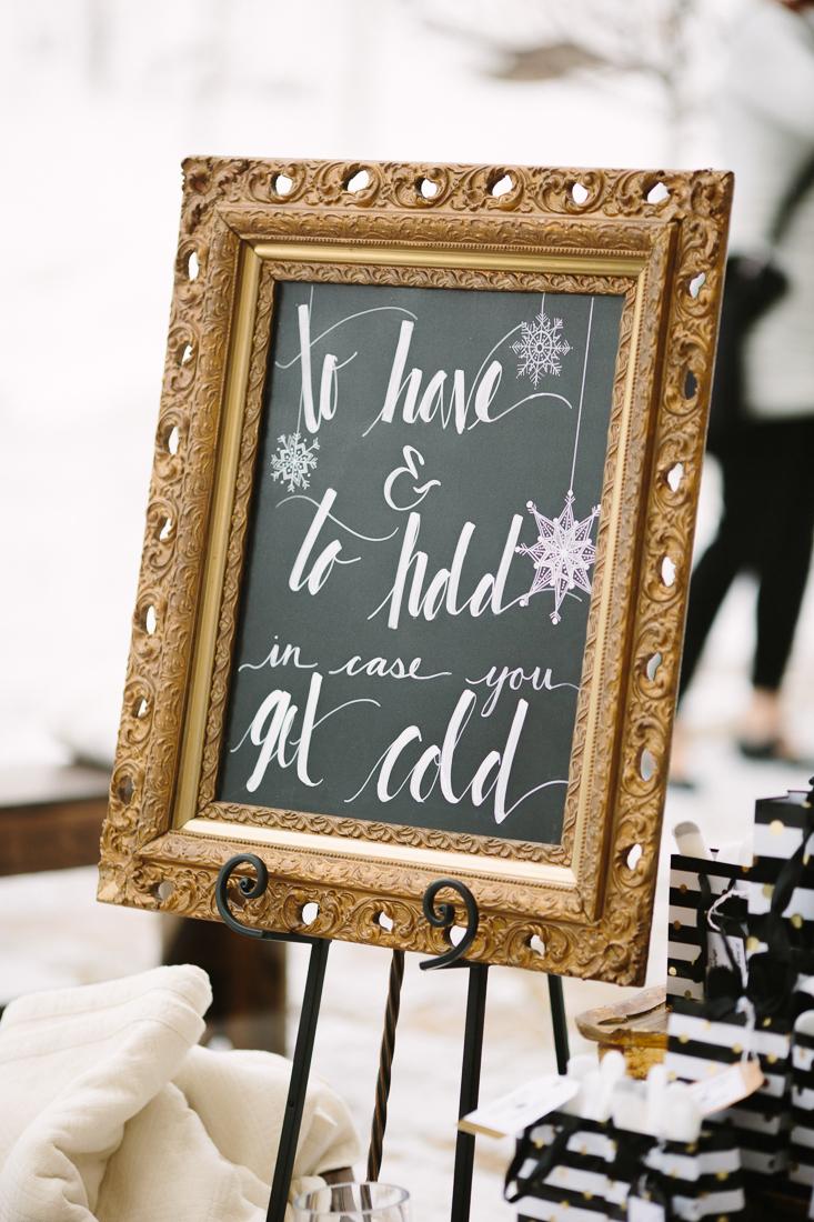 Cat Mayer Studio | www.catmayerstudio.com | Vail Wedding Photography | Park Hyatt Beaver Creek | Stonewood Vintage wedding rentals chalkboard sign