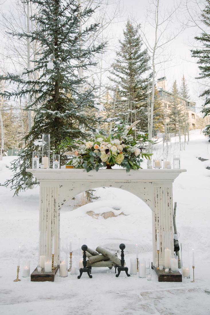 Cat Mayer Studio | www.catmayerstudio.com | Vail Wedding Photography | Stonewood Vintage fireplace wedding rentals