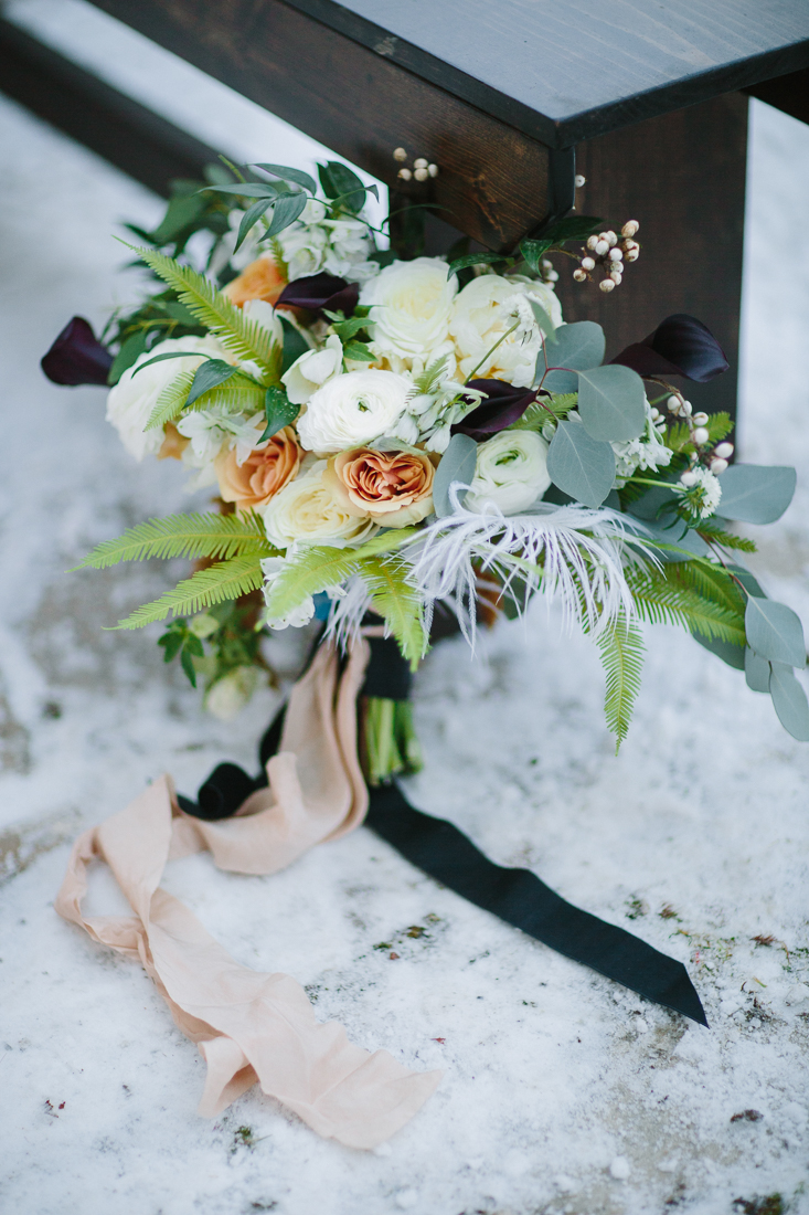 Cat Mayer Studio | www.catmayerstudio.com | Vail Wedding Photography | Park Hyatt Beaver Creek winter wedding | Bride bouquet by 3 Leaf Floral