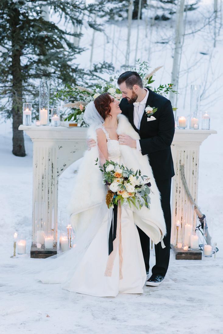 Cat Mayer Studio | www.catmayerstudio.com | Park Hyatt Beaver Creek Wedding | Vail bride and groom formal portraits