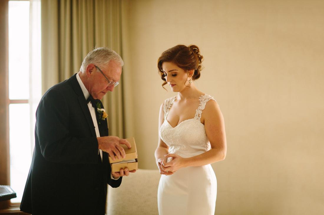 Cat Mayer Studio www.catmayerstudio.com | Park Hyatt Beaver Creek Wedding | Bride with her father before ceremony