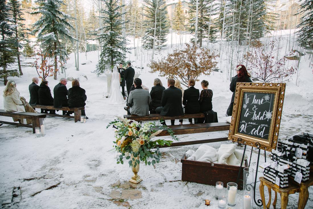 Cat Mayer Studio | www.catmayerstudio.com | Vail Wedding Photography | Park Hyatt Beaver Creek winter wedding ceremony
