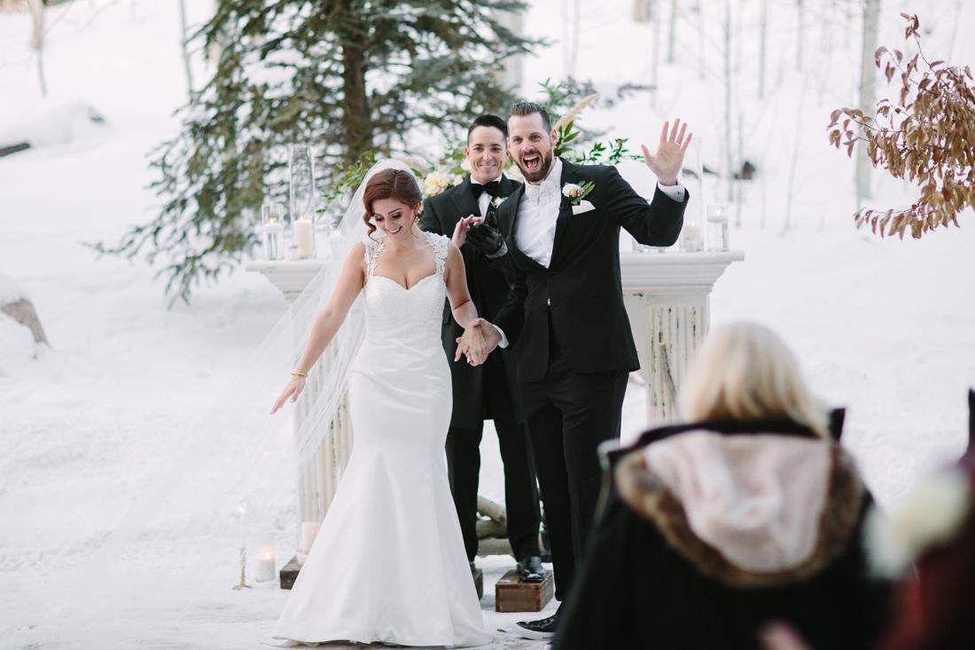 Cat Mayer Studio | www.catmayerstudio.com | Park Hyatt Beaver Creek Wedding | Bride and groom after ceremony