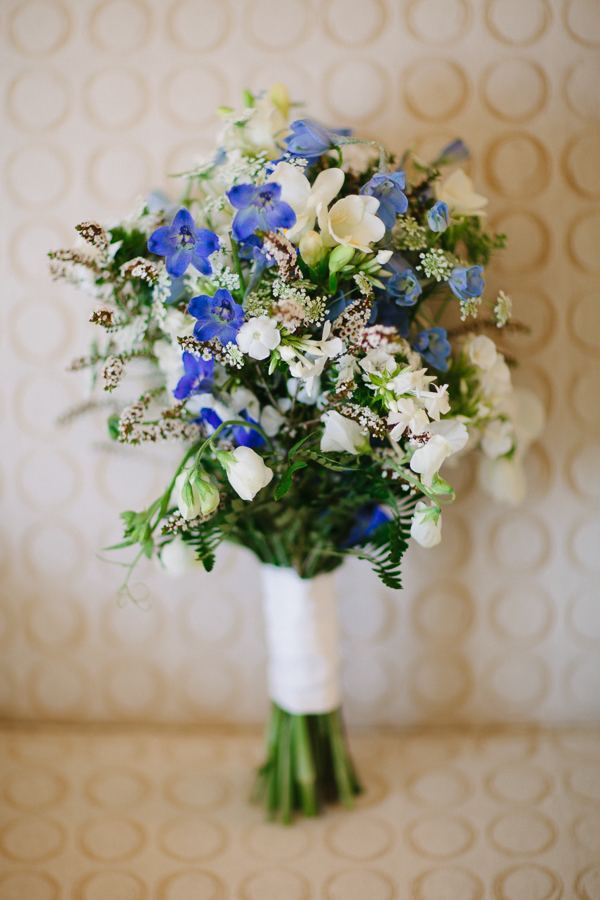 Cat Mayer Studio | www.catmayerstudio.com | San Sophia Wedding | Blue wildflower bridal bouquet
