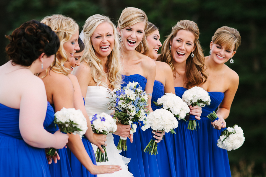 Blue bridesmaids dresses | San Sophia Overlook Telluride Wedding | Cat Mayer Studio | www.catmayerstudio.com