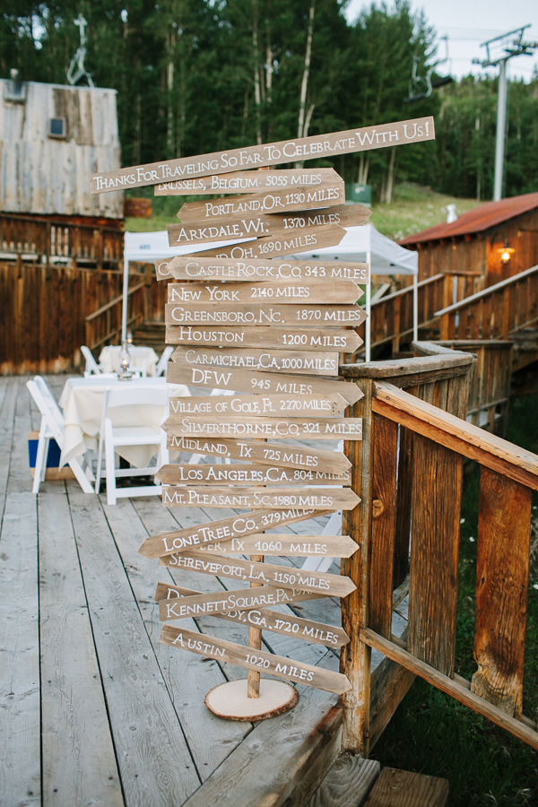 Gorrono Ranch wedding reception guest sign decoration | Telluride Wedding | Cat Mayer Studio | www.catmayerstudio.com
