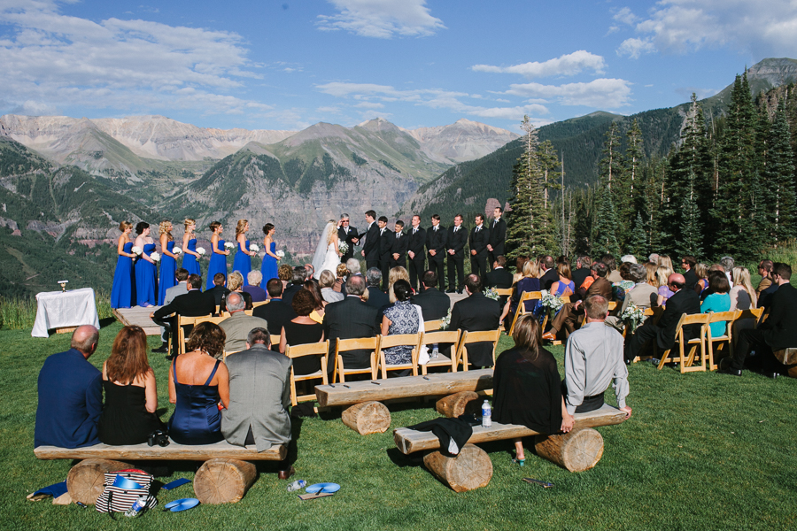 Cat Mayer Studio | www.catmayerstudio.com | Wedding Ceremony at San Sophia Overlook | Telluride Ski Resort, Colorado