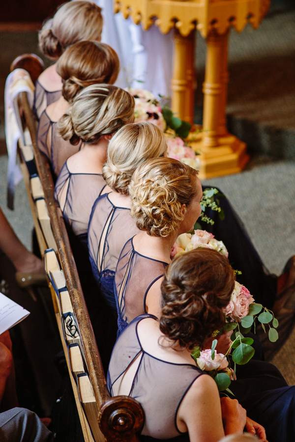 Telluride Wedding Photography | Row of Bridesmaids | Cat Mayer Studio | www.catmayerstudio.com