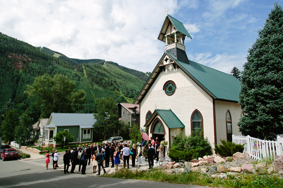 Outside of St. Patricks Church in Telluride | Cat Mayer Studio | www.catmayerstudio.com